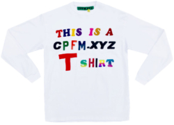 White Long Sleeve This Is A Cpfm.xyz T Shirt Worn By Asap Ferg