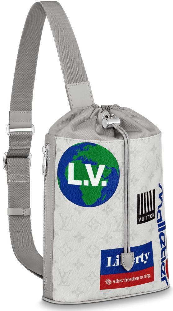 White Louis Vuitton Chalk Sling Bag