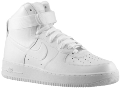 White Nike Air Force 1s High
