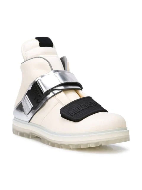 White Rick Owens X Birkenstock Shoes Worn By Pnb Rock