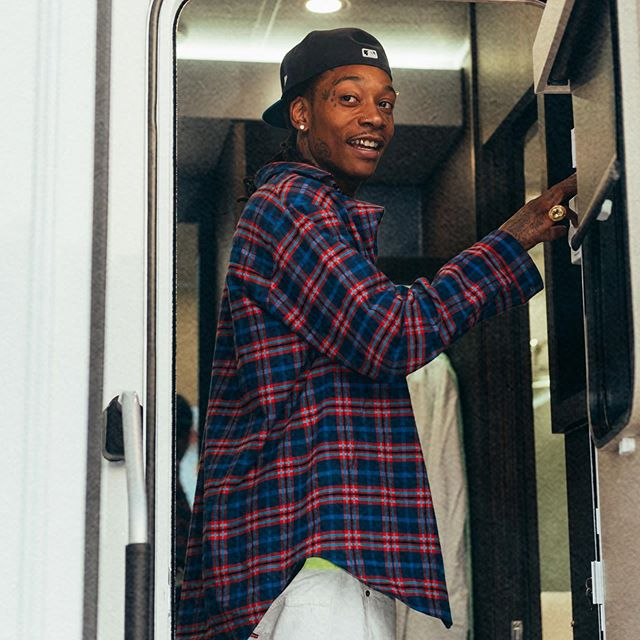 Wiz Khalifa In La Wearing A Dsquared2 Checked Shirt And White Levis Jeans