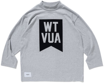 Wtaps Black Logo Print Grey Mock Turtleneck Shirt Worn By Logic
