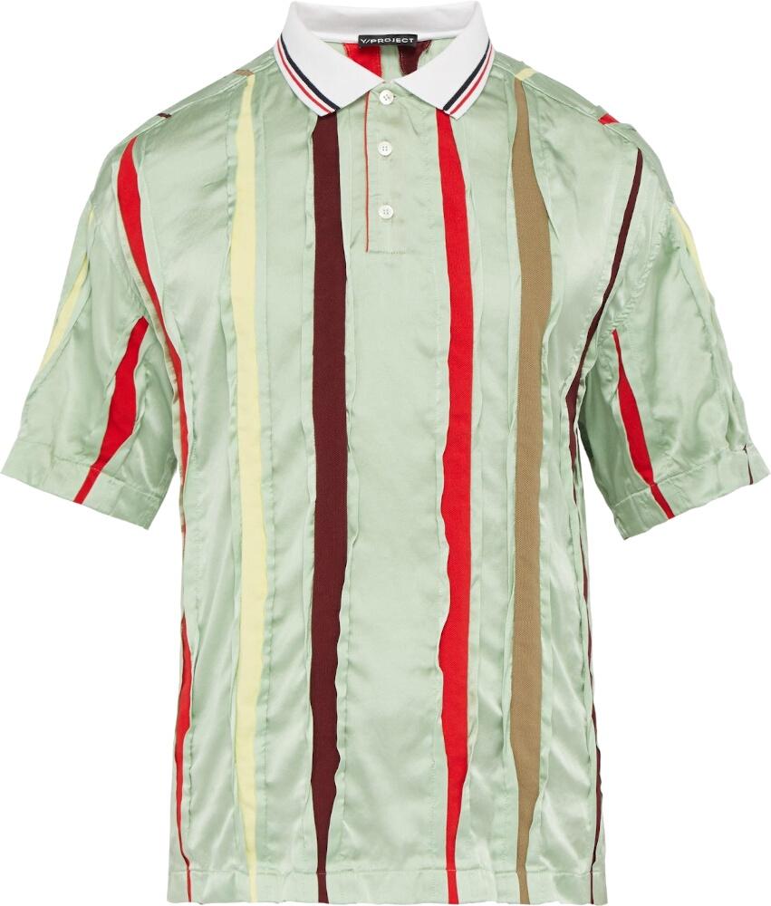 Y Project Striped Silk Polo Shirt