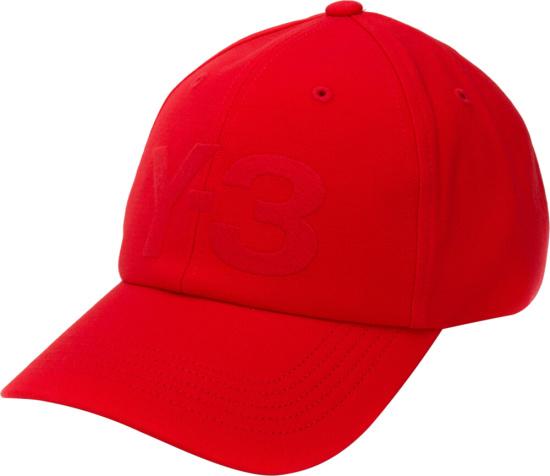 Y3 Red Baseball Hat