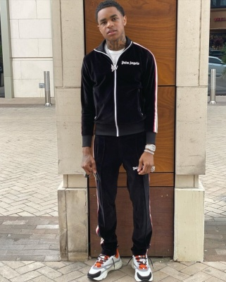 Ybn Almighty Jay Wearing A Palm Angles Track Suit & Dior B22s In Latest Fit