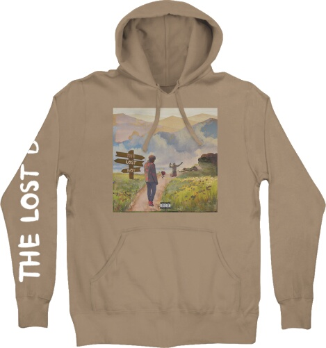 Ybn Cordae The Lost Boy Album Print Brown Hoodie
