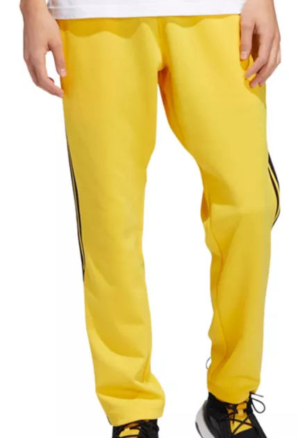 Yellow Adidas Pants With Black Stripes Worn By Asap Ferg