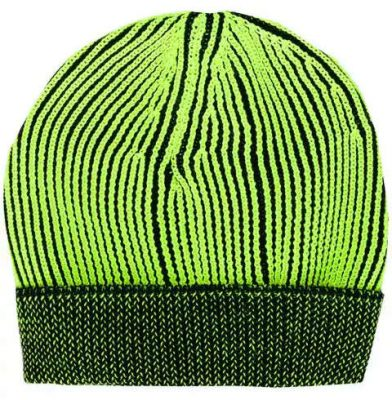 Yellow And Black Ribbed Knit Beanie Hat Worn By Rich The Kid In For Keeps Music Video