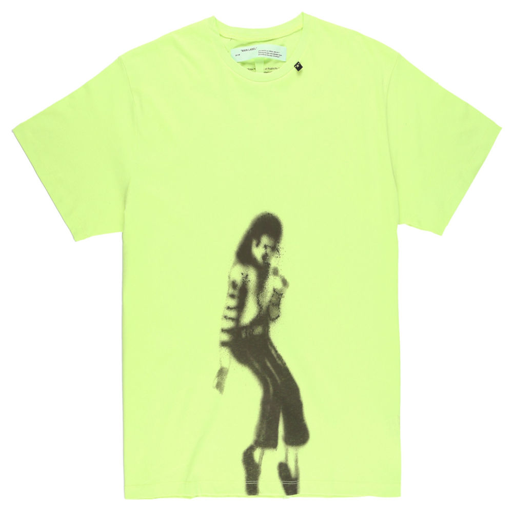 Yellow Off White Michael Jackson T Shirt Worn By Rich The Kid