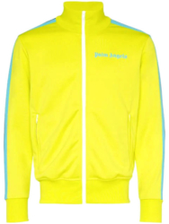 Yellow Palm Angels Track Jacket With Blue Side Stripes Worn By Swae Lee