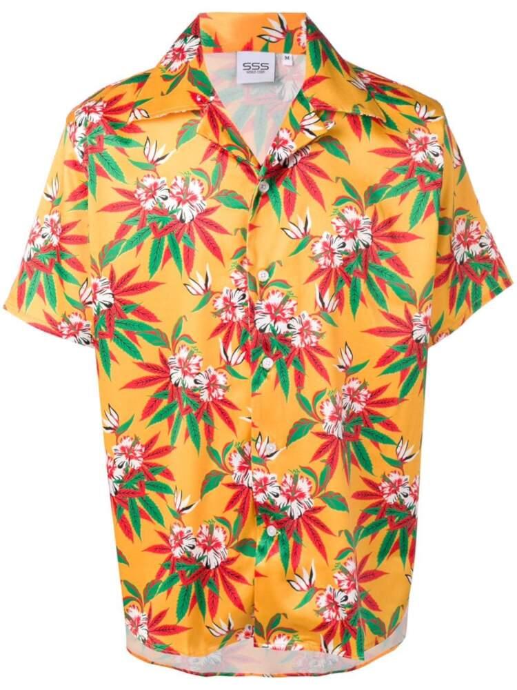 Yellow Sss World Corp Hawaiian Shirt