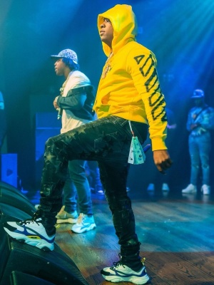 Yo Gotti Wearing An Off White Hoodie With Amiri X Chemist Jeans And Dior B22 Sneakers