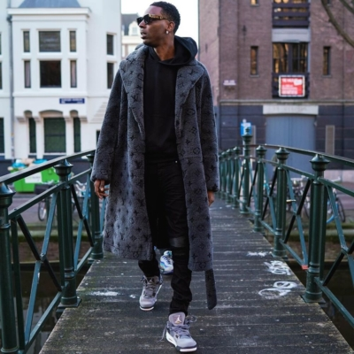 Young Dolph Explores Germany In A Lv Coat Amiri Jeans And Jordan Sneakers