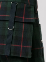 Plaid Zipped Trousers