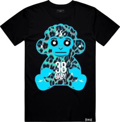 Youngboy Nba Blue Leopard Monkey Print Black T Shirt