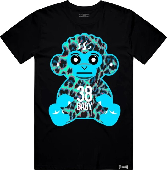 Youngboy Nba Blue Leopard Monkey Print Black T Shirt