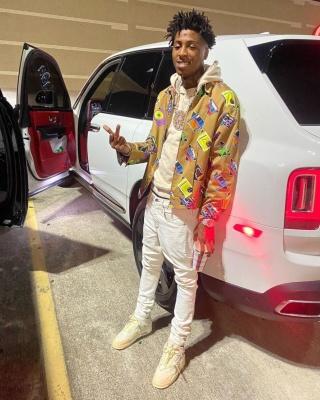 Youngboy Nba Wearing A Prada Cassette Print Jack And Jordan 4s