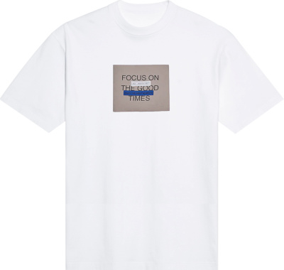 Zara Good Times Print White T Shirt