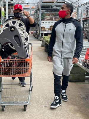Zaytoven Wearing Nike Tech Joggers And Hoodie With Jordan 3 Tinker Sneakers